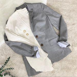 J. Crew Light Grey Wool Blazer